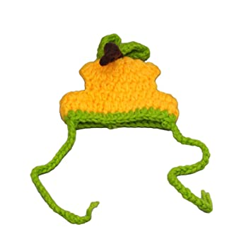 Pequeño gato perro gorro amarillo verde lindo Halloween caliente de punto sombrero con correa para atar para gatos pequeños cachorros: Amazon.es: Productos ...