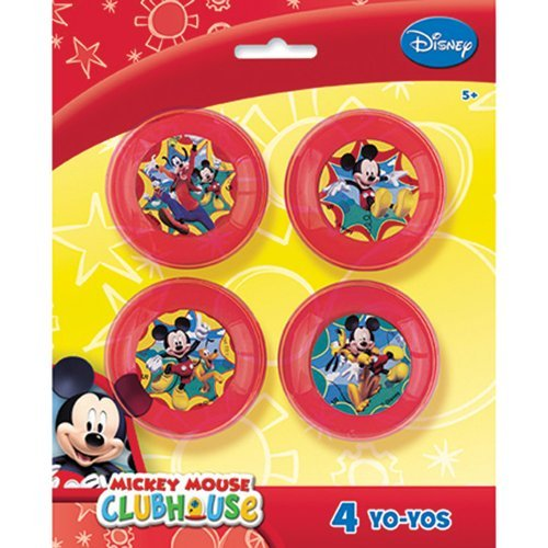 Mickey Mouse Yoyos - Party Favors - 4 Yo Yos per Pack by SmileMakers