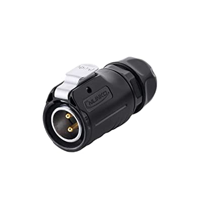 iGreely CNLINKO 2 Pin Power Industrial Circular Connector, Male Plug, Outdoor Waterproof IP67, AC DC Signal, Fit Furrion, Grand Design, Forrest River RV Solar Port - 1Pack: Automotive [5Bkhe2007438]
