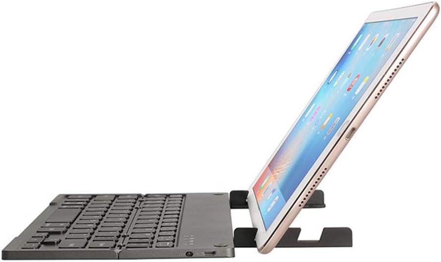 Aiyawear Folding Bluetooth Keyboard Foldable Wireless Bluetooth Keyboard with Portable Color : Black