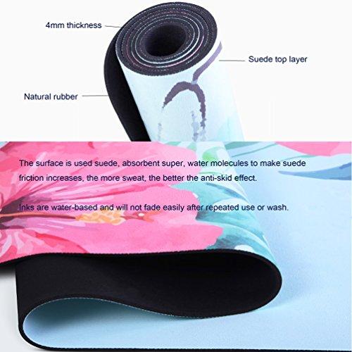 Extra Long Large Printed Yoga Mat Non slip Eco Friendly 4mm Great For hot Yoga Pilates Bikram Fitness