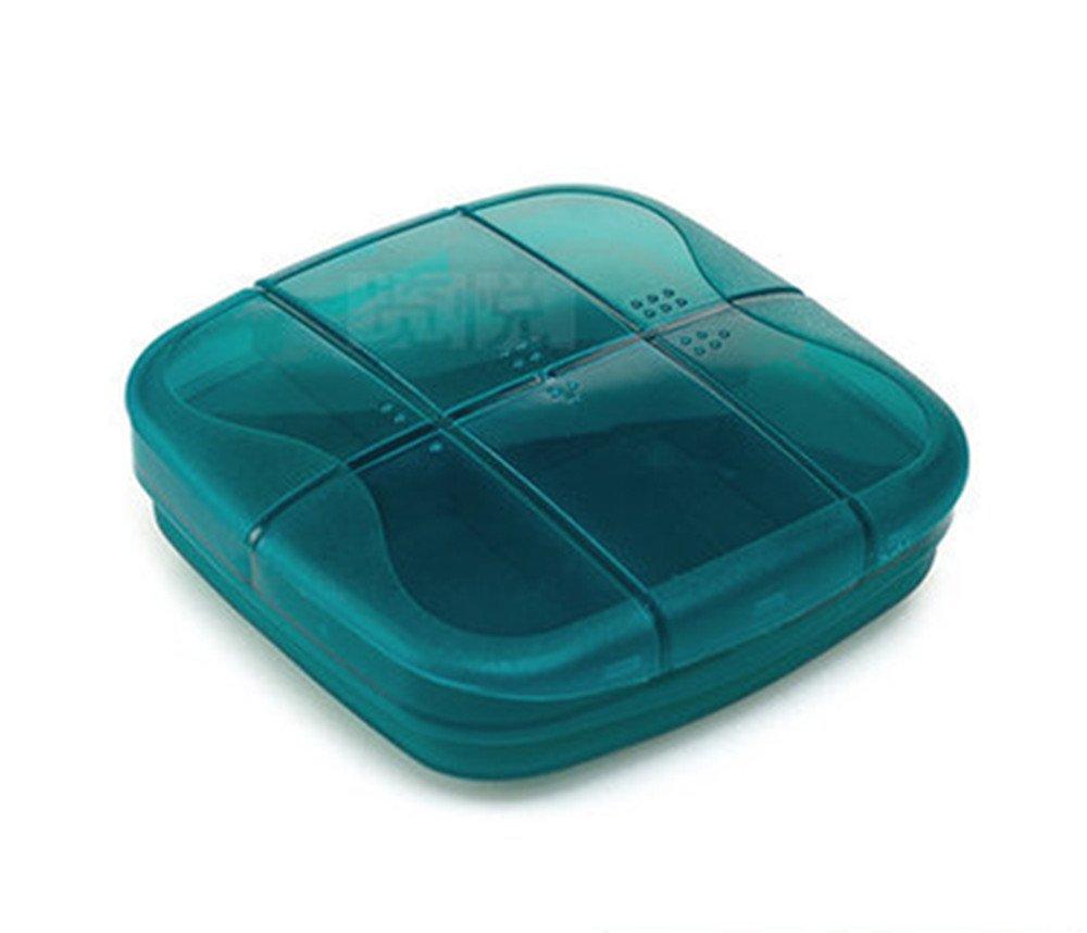 Cojoy Travel First-Aid Medicine Pill Tablet Organizer Storage Case Pouch Set (Blue)
