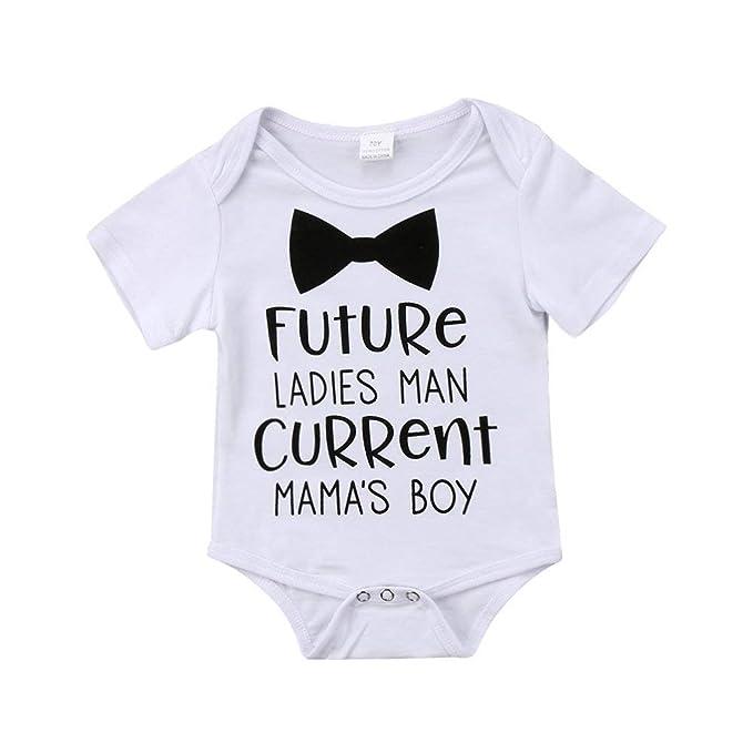 Amazon.com: Bonito vestido de manga corta para recién nacido ...