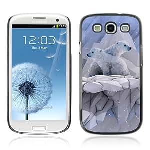 Designer Depo Hard Protection Case for Samsung Galaxy S3 / Polygon Polar Bear