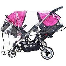 [Patrocinado] Protector de insectos de viaje impermeable para cochecito de bebé de tamaño universal, protección contra el viento