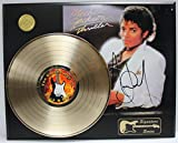 #5: MICHAEL JACKSON GOLD LP LTD EDITION REPRODUCTION SIGNATURE RECORD DISPLAY