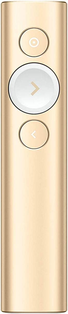 Logitech Spotlight Presentation Remote - Advanced Digital Highlighting with Bluetooth, Universal Presenter Clicker, 30M Range and Quick Charging – Gold