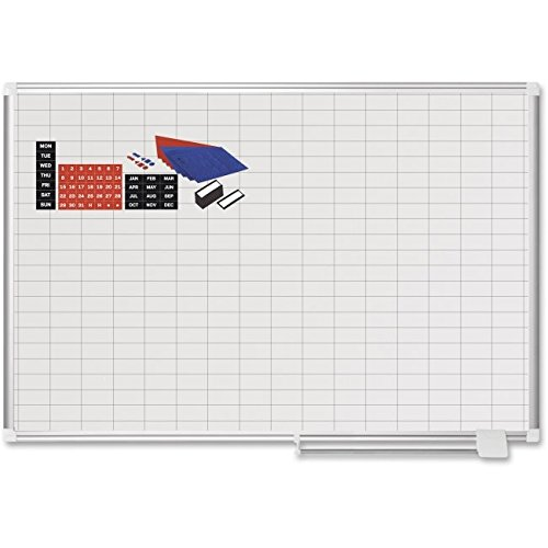 BVCCR0830830A - Platinum Plus Dry Erase Planning Board w/Accessory by Bi-silque
