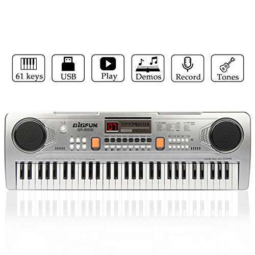 JINRUCHE 61 Keys Kids Piano Keyboard Portable Electronic Musical Instrument Multifunction Early Learning Educational Toy…