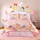 Veratex Bedding Collection Butterflies are Free Comforter Set, Pink/White, Twin Size