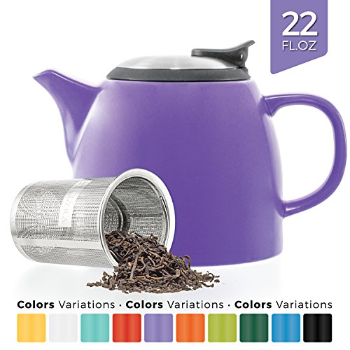 Tealyra - Drago Ceramic Small Teapot Purple - 22oz  - With S