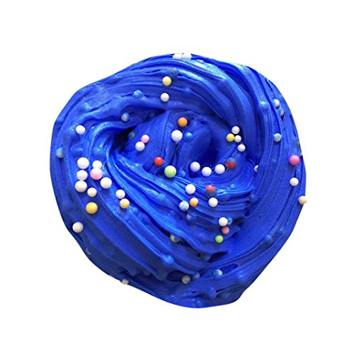 Jouets de décompression, Transer® Pelucheux Floam Slime parfum anti-stress no borax Enfant/Adoult boues jouet (Bleu)