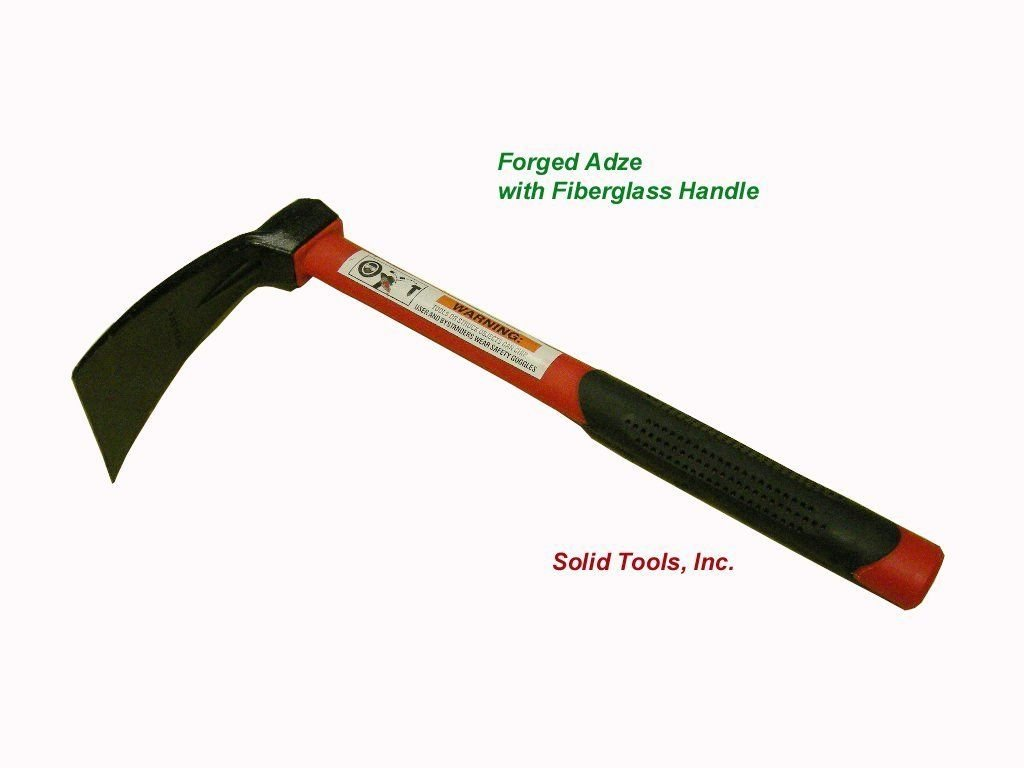 Forged Adze with Fiberglass Handle