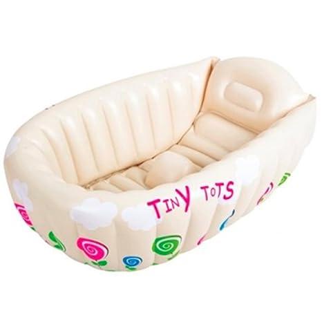 Crystals® - Bañera hinchable para bebé con sensor de calor para la ...