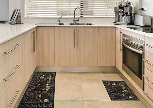 Maxy Home Cucina Bricks 1 ft. 6 in. x 2 ft. 7 in. Kitchen Door Mat (Rug Rake Shag)