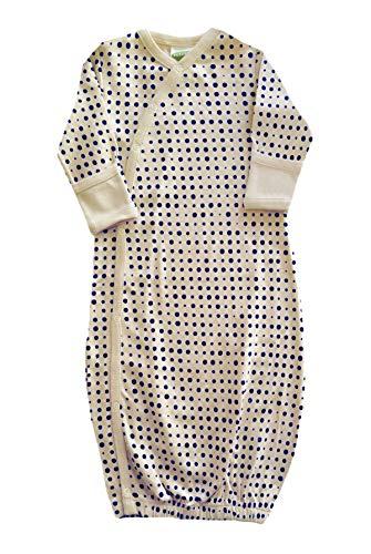 Parade Organics Kimono Gowns - Signature Prints Blue Dots 3-6 Months
