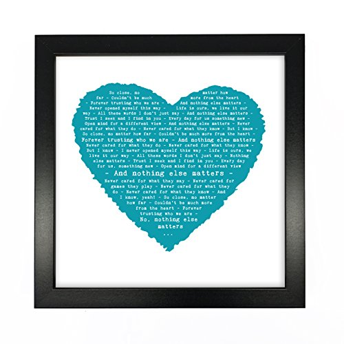 Matters Lyrics Music - Just Print! Metallica, Nothing Else Matters Personalised Print Heart - Ideal Wedding Anniversary Personalized Romantic Gift - Fully Framed Box Frame