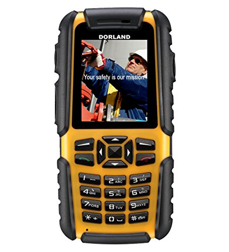DORLAND TEV8 Explosion-proof mobile Phone,Rugged Smartphone, Intrinsically  Safe For Oil & Gas Industry and Hazardous Areas, Dual Mode(GSM+GSM)(Yellow)