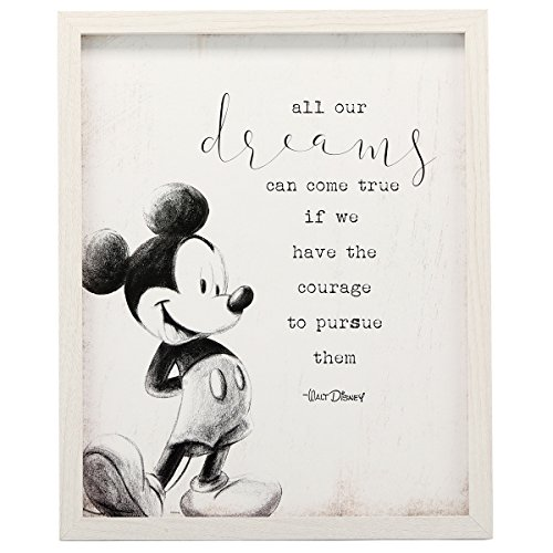 Mickey Mouse Prints - Open Road Brands Mickey Mouse Dreams Framed Rustic Wall Decor