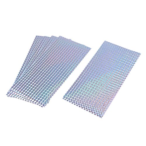 MagiDeal - Cinta adhesiva holográfica (5 unidades), Plateado