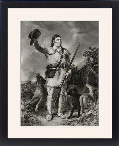 Framed Print of Colonel Crockett by Prints Prints Prints