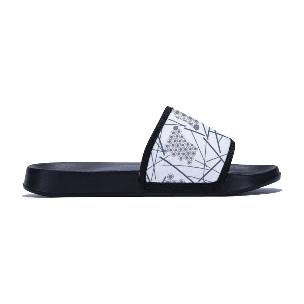 Geometry Lines /& Points Slippers Simple Pattern Non-Slip Quick-Drying Slippers for Mens