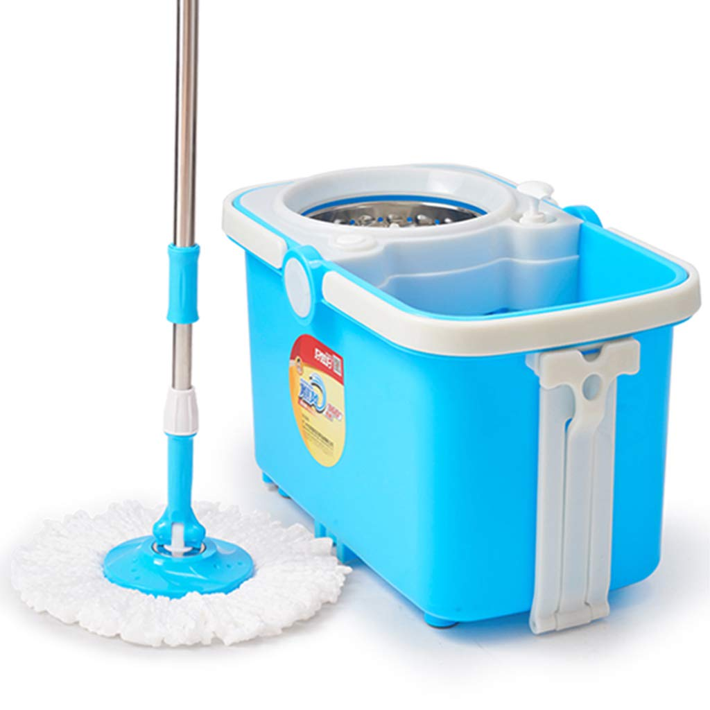 Rotary mop Household Free Hand wash Dry and Wet Dual Drive MOP Bucket mop Bucket Suitable for Cleaning Home Office Classroom and so on,A