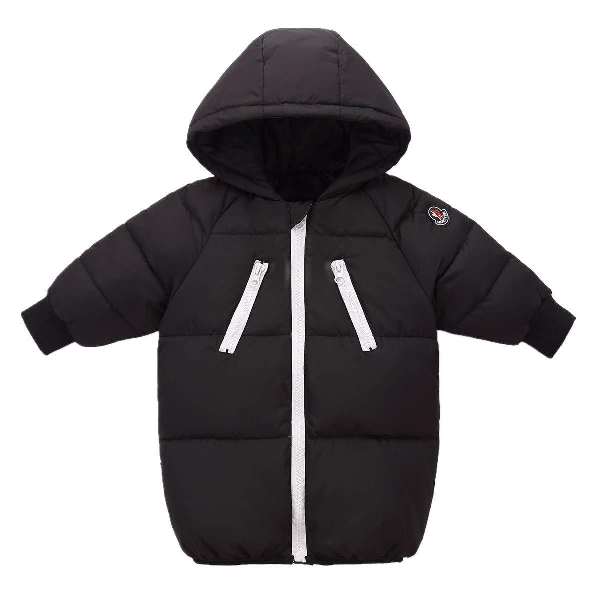 LJYH Little Boys and Girls Zipper Hood Winter Coat Down Parka Childrens Warm Down Puffer Jacket