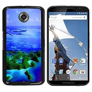 TECHCASE**Cubierta de la caja de protección la piel dura para el ** Motorola NEXUS 6 / X / Moto X Pro ** Islands Tropics Nature Blue Ocean Sea