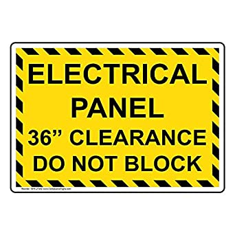 Electric Panel Clearance on electric panels and disconnects, nfpa electrical panel clearance, osha electrical panel clearance, eletric tape panel clearance, nec panel clearance, national electrical code panel clearance,