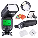NeewerHigh Speed Sync E-TTL Camera Master/Slave Flash Kit for Canon EOS 5D Mark III, 5D Mark II, 1Ds Mark 7D 60D 50D 40D 30D/EOS Digital Rebel SL1 XT T1i T2i XS T3 and Other Canon DSLR Cameras