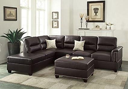 Fabulous Amazon Com 1Perfectchoice Sectional Sofa Couch Reversible Customarchery Wood Chair Design Ideas Customarcherynet