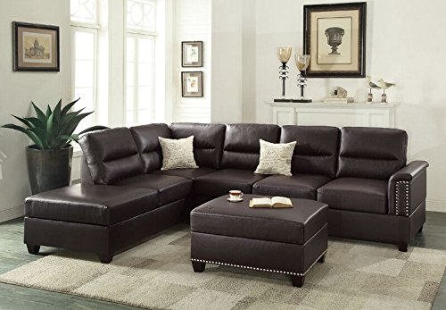 1PerfectChoice Sectional Sofa Couch Reversible Chaise Ottoman