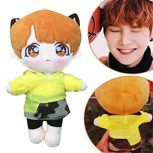 Misisi BTS Bangtan Boys Carton Jimin V Suga Plush Doll Toy Soft Stuffed Doll (suga) ()