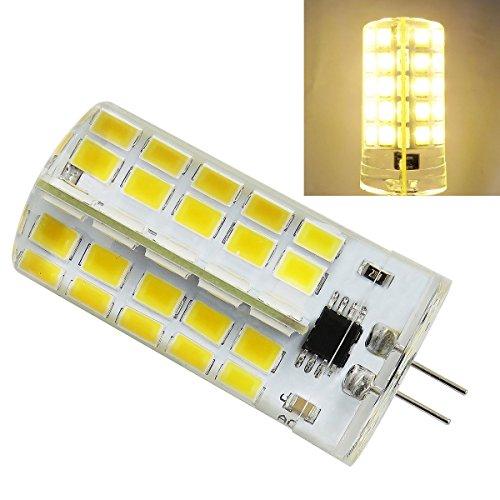 Pack 6, G4 LED Bulb Dimmable 120V 110V 5W 540 Lumens 80pcs 5730 SMD Silica Gel Landscape lamp Transparent Chandelier Crystal (Warm White 2700K~3200K) ()