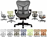 Product review for Mirra Chair Herman Miller Deluxe Fully Highly Adjustable Home Office Desk Task Chair with Graphite Frame with Dark Graphite Airweave Seat and TriFlex Backrest, Standard Casters