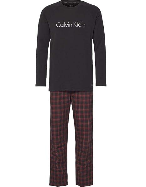 463bf7b3de Calvin Klein Pigiama Uomo, Cotone con Maglia Tinta Unita e Pantalone  Fantasia. Ottimo Come Idea Regalo: Amazon.it: Abbigliamento