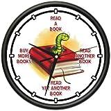 AVID READER Wall Clock book worm books novels book lover library nerd gift