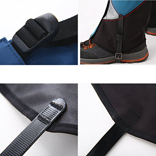 Tuban Hiking Gaiters Ski Snow Gaiters Waterproof Boot Gaiters Reinforced Adjustable TPU Strap Breathable 1000D Nylon Leg Gaiters