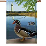 Cheap Premier 52969 House Illuminated Flag, Wood Ducks, 28 by 40-Inch