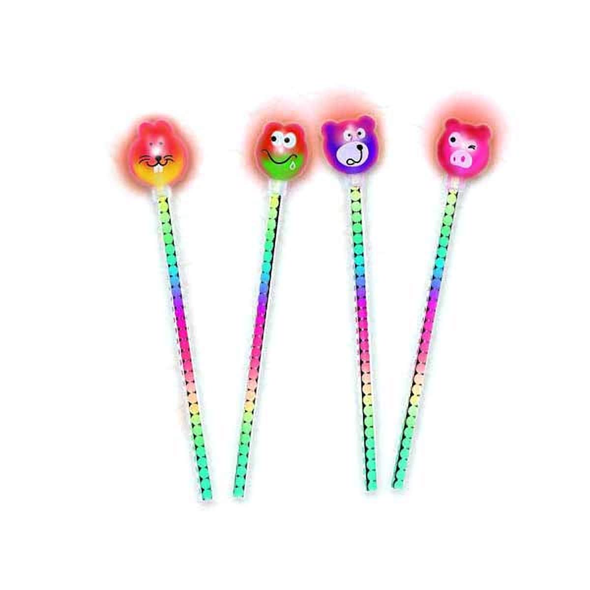 Party Favor Amscan Toys 391256 Pencil with Light Up Critter Eraser