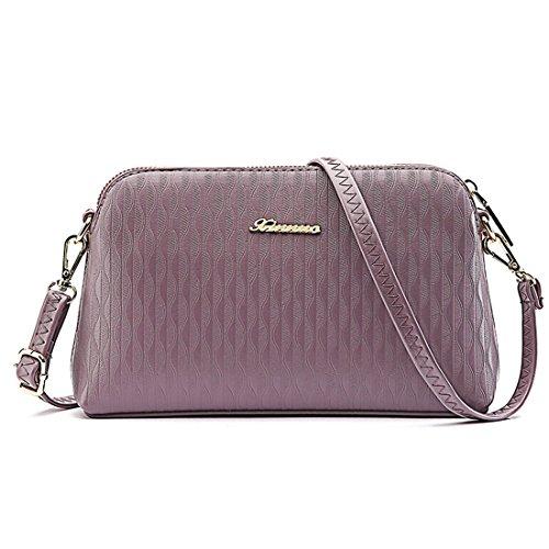 Luckywe Lady para mujer Classic bolsos pequeña Sencilla pequeña bolsa Hobo monedero cuero A96 MediumPurple