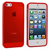 5s cases jelly - iPhone 5 5S Case, TechSpec(TM) Red Plain TPU Rubber Skin Case Cover for Apple iPhone 5 / 5S