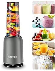 Personal Countertop Blender - Portable Blender for Milkshake, Fruit Vegetables Drinks, Smoothie, Small Mini Food Blenders Processor Shake Mixer Maker with 1 * 400ML Travel Cup