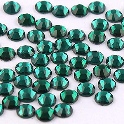 Buy Build Ss3-Ss34 Emerald Green Shiny 3D Nail Art Rhinestone Non Hotfix  Flatback Gl Online at Low Prices in India - Amazon.in 9592df660660