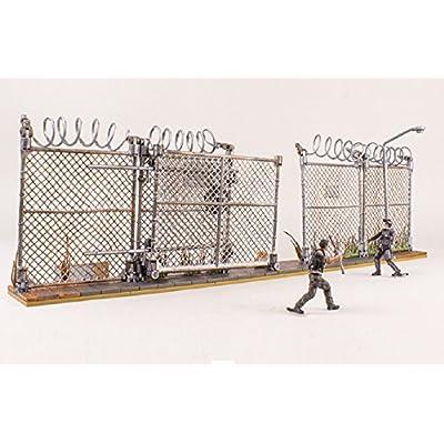 McFarlane Toys The Walking Dead AMC TV Series Prison Gate & Fence Building Set #14556 192 pcs: Toys & Games