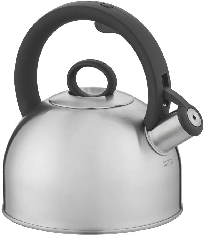 Amazon Com Cuisinart Aura Silver Stainless Steel Stovetop Tea Kettle 2 Qt Ctk Ss17n Kitchen Dining