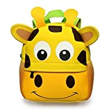 Toddler Backpack Baby Kindergarten Pre School Bags Kids Lunch Bag Cute Cartoon Backpacks for 3-7 Years Old,Giraffe (large)