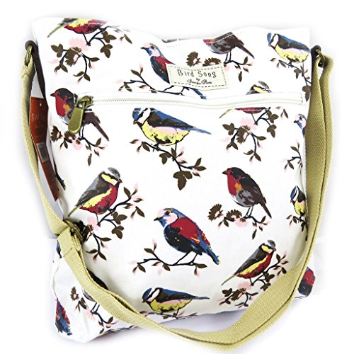 Designer-tasche 'Bird Song'beige.