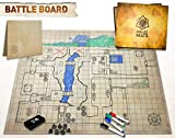 Toys : The Original Battle Grid Game Board - 23x27 - Dungeons and Dragons Set - Dry Erase Square & Hex RPG Miniatures Mat - DND 5th Edition Table Top Role Playing Dice Map - D&D Wizards of The Coast